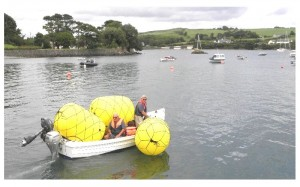 Robert and Gerry with the new buoys