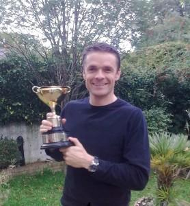 Frank Keane Winner of the Novice Race