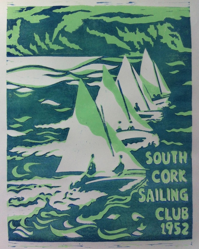 Ettes Cross the line - South Cork Sailing Club - Castletownshend 1952 - Limited Edition Print
