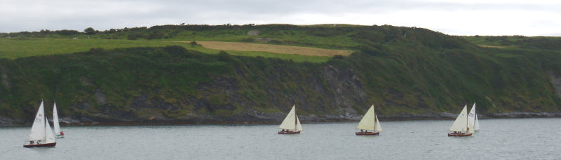 Six Boats Start for Glandore in the Ocean Race - August 13 2013