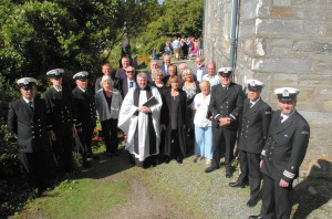 Officiants at Catlehaven Maritime Service Sunday, August 3 2014