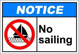 notiH135 - no sailing