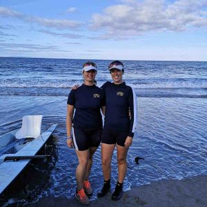 Castletownshend Rowing Club members Eimear Walsh and Ella Cialis